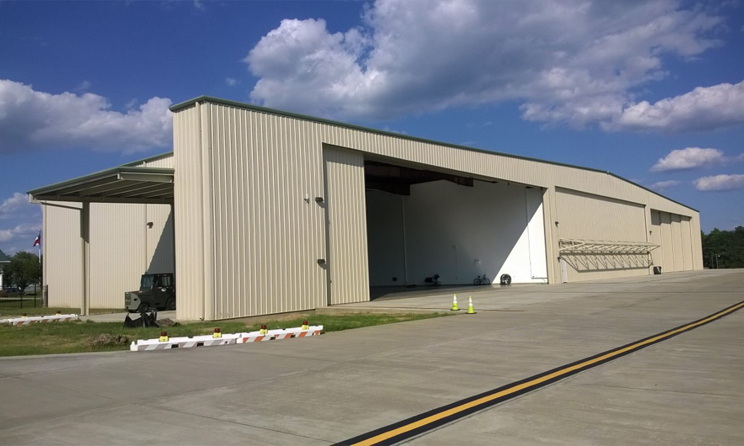 Outside View of Hangar